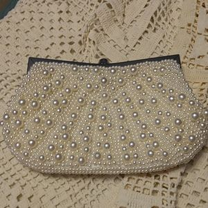 Charming Charlie RSVP Faux Pearl Evening Bag